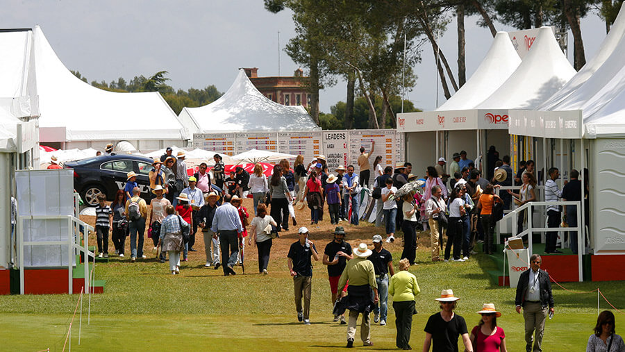 Un village en el campo de golf